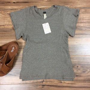 Free People Short Sleeve Shirt